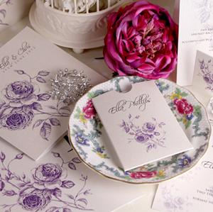 Stunning handmade wedding stationery from The Handcrafted Card Company